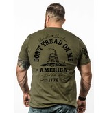Shirt Short DON'T TREAD Tee, Military Green, XL