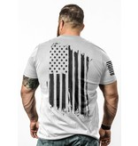 Shirt Short AMERICA Tee, White, Large