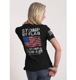 Shirt Short STOMP MY FLAG Tee, Dark Grey, Woman's XL