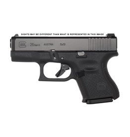 Handgun New Glock 26 Gen 5, 9mm, subcompact, 10rd, Black, Ameriglo Night Sights