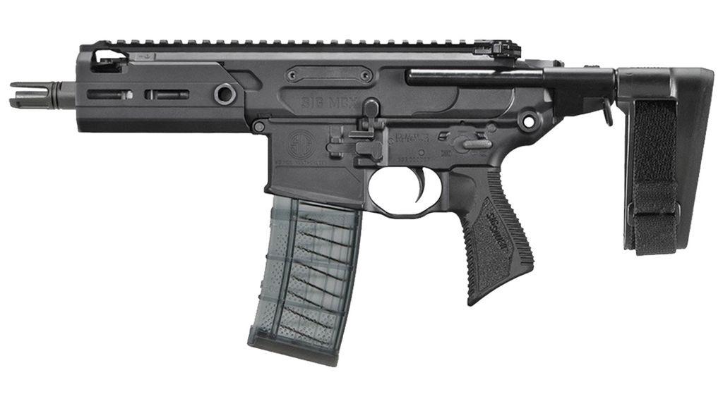 """Handgun New Sig Sauer Rattler, .300BLK, 5.5"""" 30rd, Black, Free Float MLOK rail"""