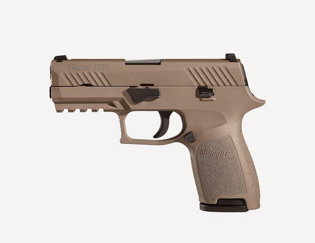 """Handgun New Sig Sauer P320 Compact, 9mm, 3.9"""", FDE, Night Sights, 15rd."""