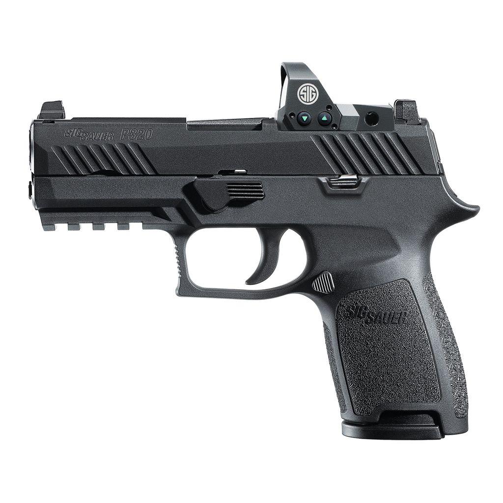 "Handgun New Sig Sauer P320 Compact, Romeo1 Reflex Sight, 9mm, 3.9"", Night Sights, 15rd"