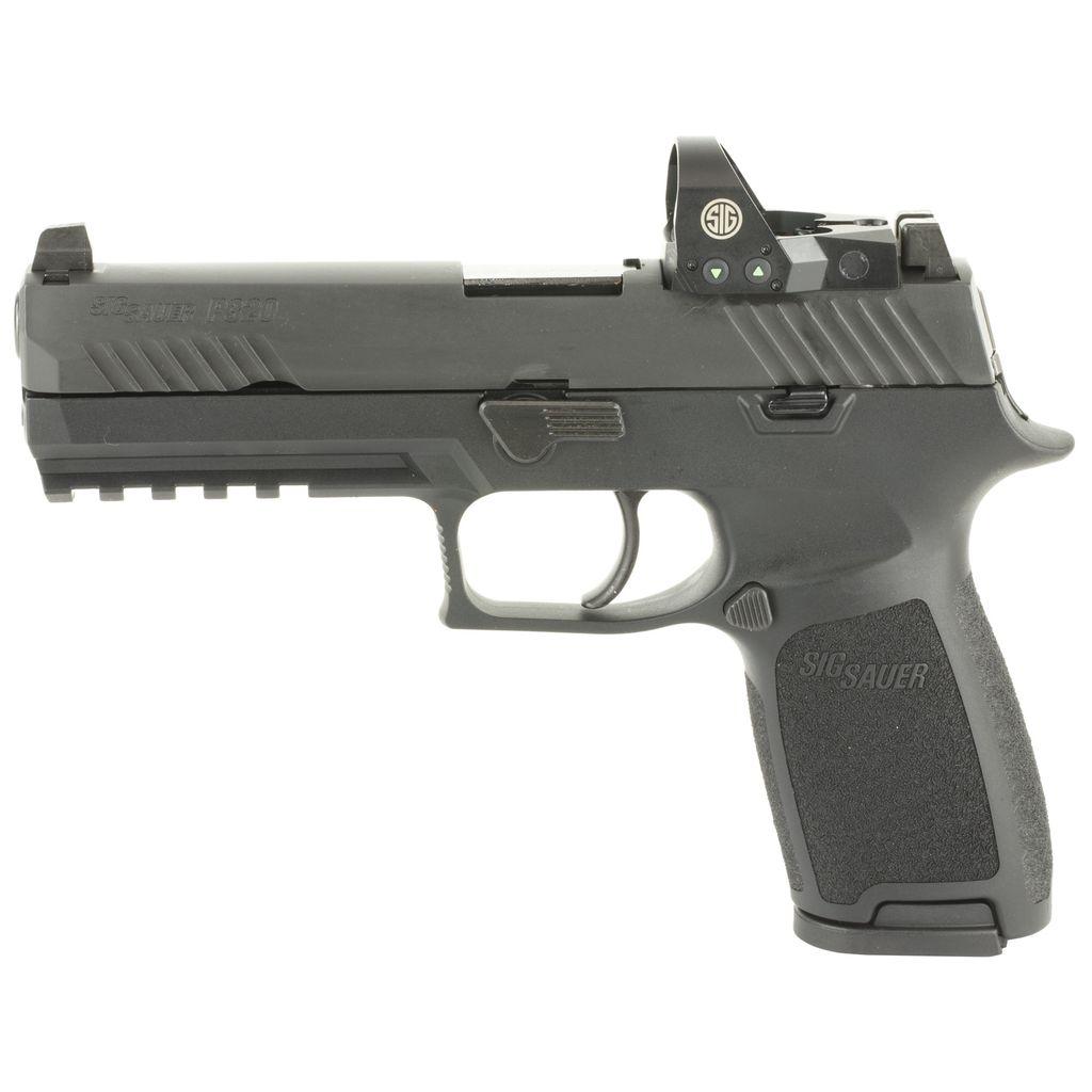"Handgun New Sig Sauer P320 w/ Romeo I, 9mm, 4.7"", Siglite Night Sights, 17rds"
