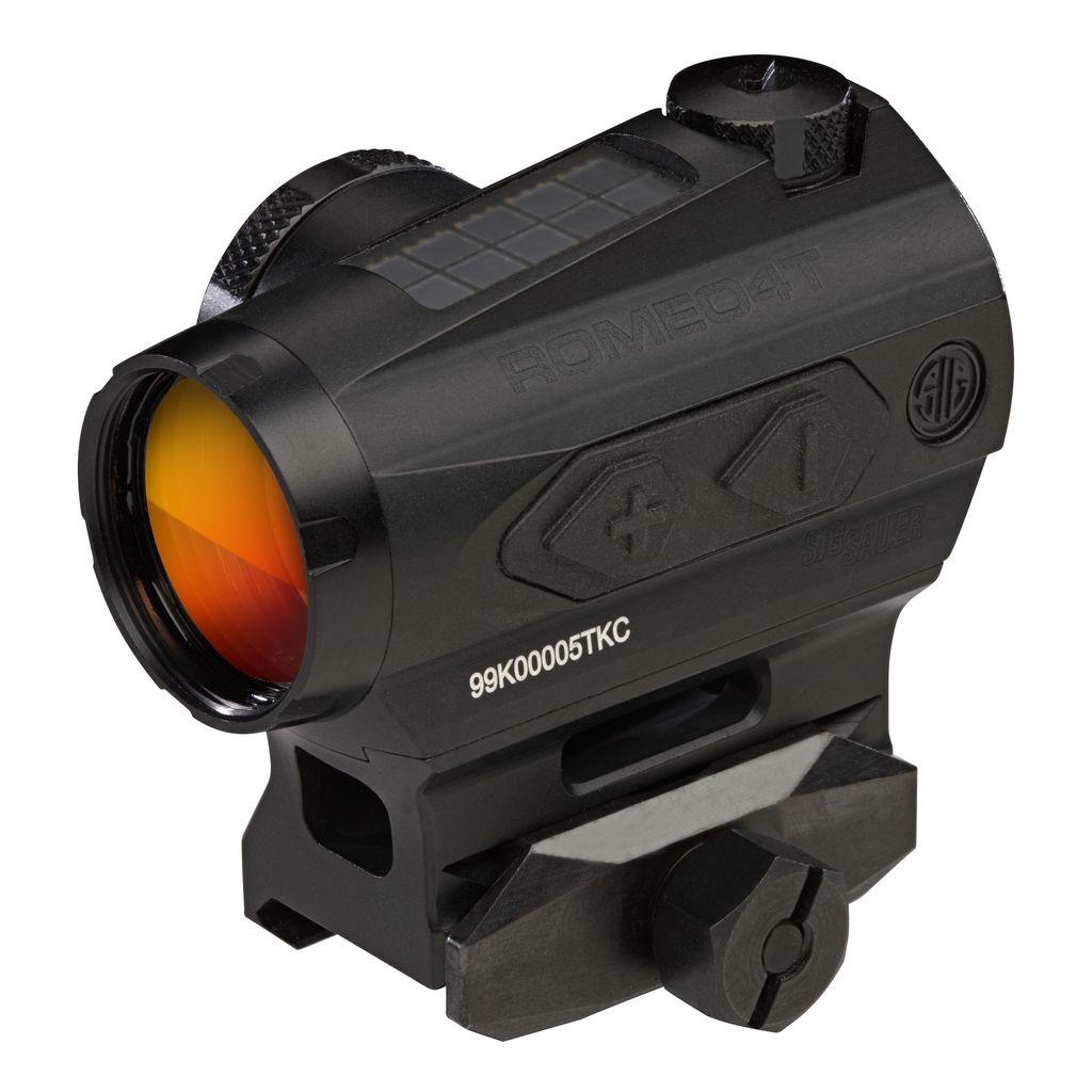 Optics Sig Sauer Romeo 4T Tactical/Solar Red Dot Sight, 2 MOA Circle Plex