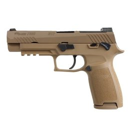 "Handgun New Sig Sauer, P320 M17, Striker Fired, 9MM, 4.7"", Polymer Frame, Coyote Finish, DP Pro Plate, Manual Saftey, 17Rd, 2 Mags, Siglite Night Sights"