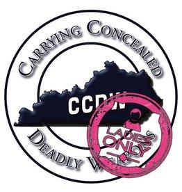 CCDW 10/27/18 Sat - Ladies CCDW class - 9:30 to 4:30