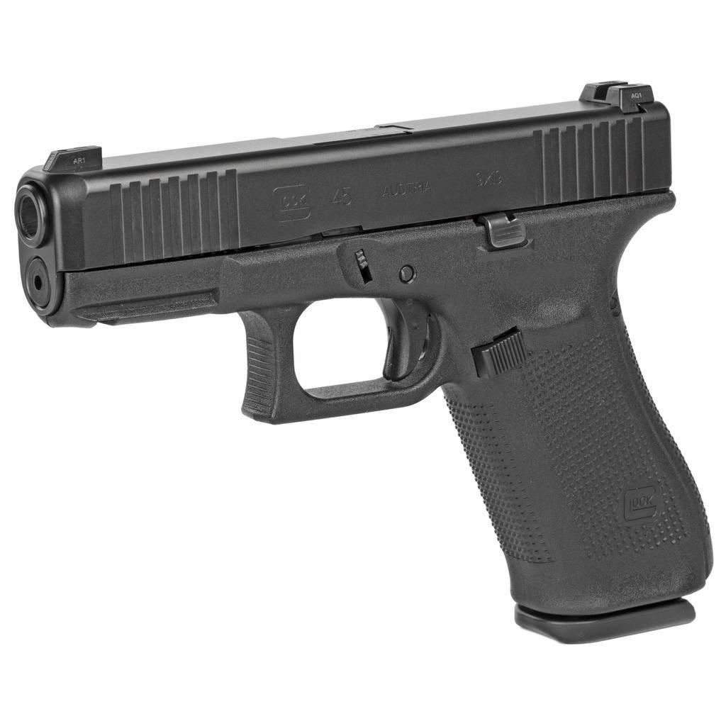Handgun New Glock 45 gen 5, 9mm, Front Serrations, Night Sights, nDLC, 3 x 17rd