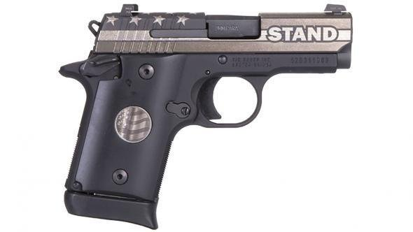 """Rotational Sig Sauer P938, STAND edition, 9mm, 3"""", Night Sights, 6/7rd (SPECIAL EDITION)"""