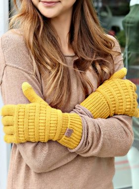 SOLID KNITTED SMART TIP GLOVES