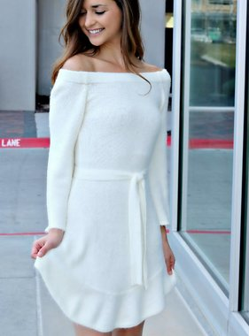 SNOW BUNNY SWEATER DRESS