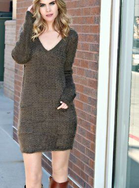 SOFT HEART SWEATER DRESS