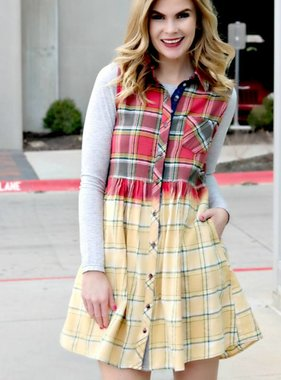 I'M PLAID YOU'RE MINE DRESS