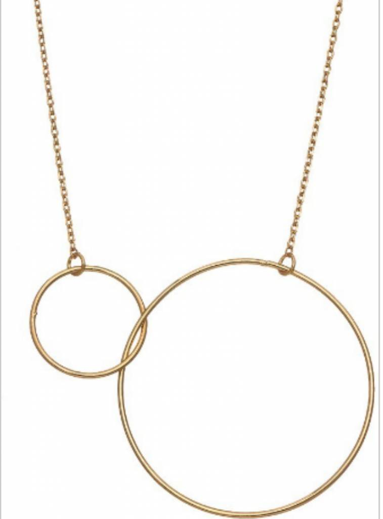 DOUBLE CIRCLE NECKLACE