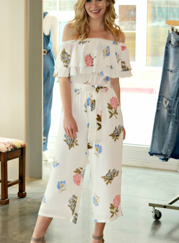 FLOWERS IN YOUR HAIR MIDI JUMPSUIT