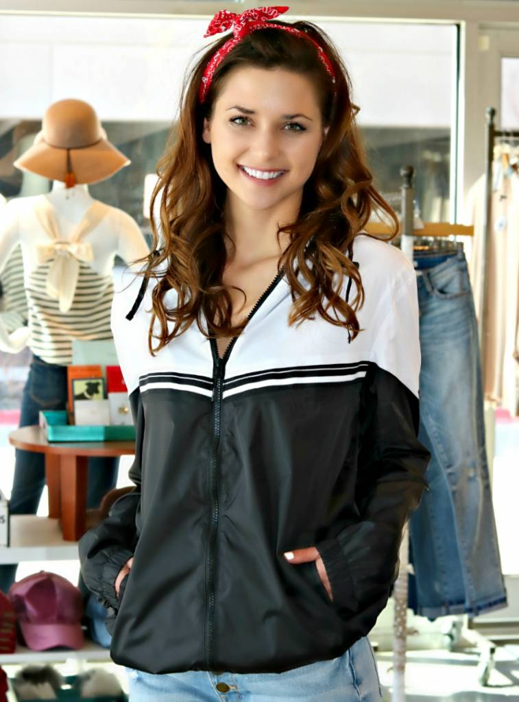 ON THE RIGHT TRACK WINDBREAKER