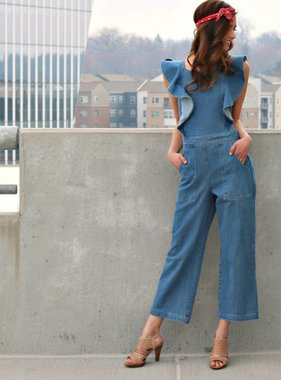 NEVER FOLLOW DIRECTIONS MIDI JUMPSUIT