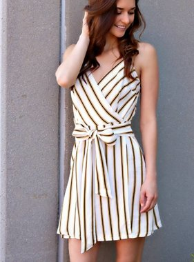 SPRING ON THOSE STRIPES DRESS
