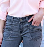 ZIPPER DETAIL SKINNY DENIM