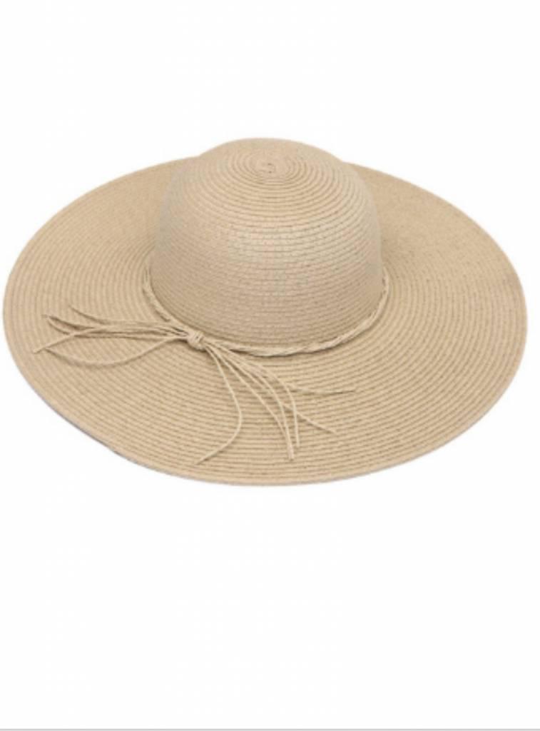 STRAW RIBBON SUN HAT