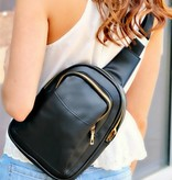 FAUX LEATHER SLING BACKPACK