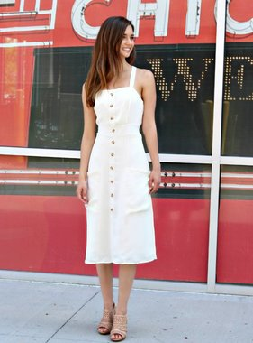 MEDIA ATTENTION MIDI DRESS