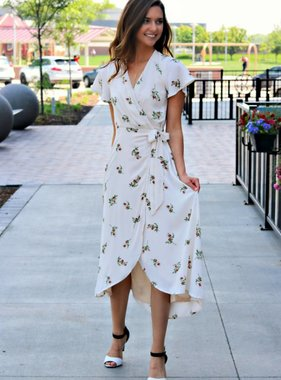 FREELY BLOOM MIDI DRESS