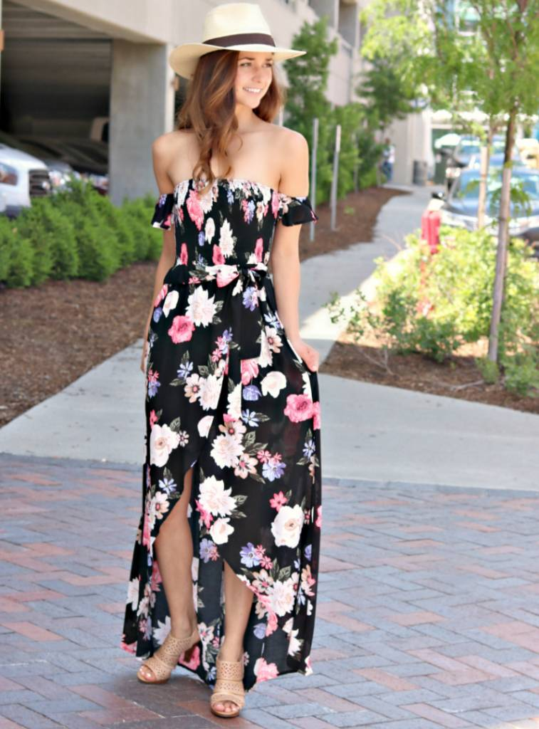 LIFE IN FLORAL MAXI  DRESS