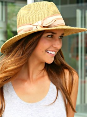 NATURAL STRAW PANAMA HAT