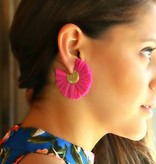 RAFFIA FAN EARRINGS