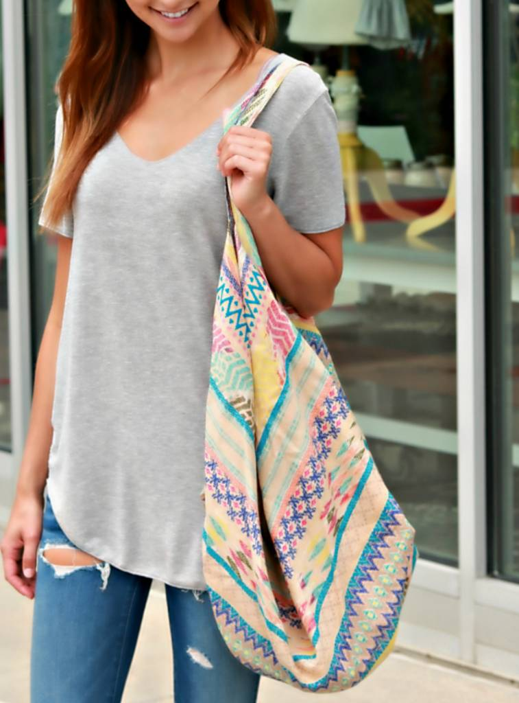 MIXED PATTERN BOHO BAG