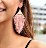 FINE THREAD TASSEL EARRINGS