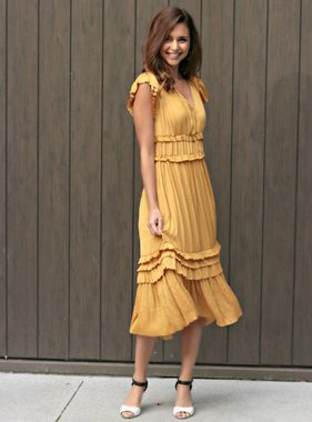 WHAT A WONDERFUL WORLD MIDI DRESS