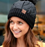 QUILTED PUFFER BEANIE