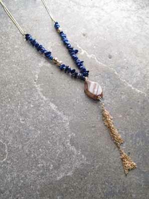 Long Royal rock fringe necklace