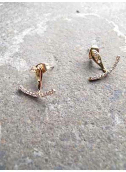 Accessories Gold rhinestone ear crawler