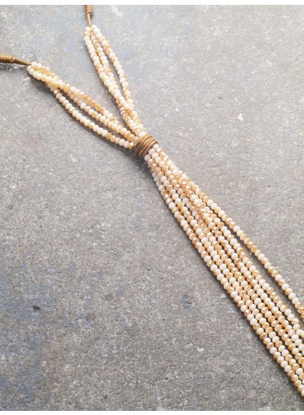 Long Rope and beaded tassel necklace *2 COLORS