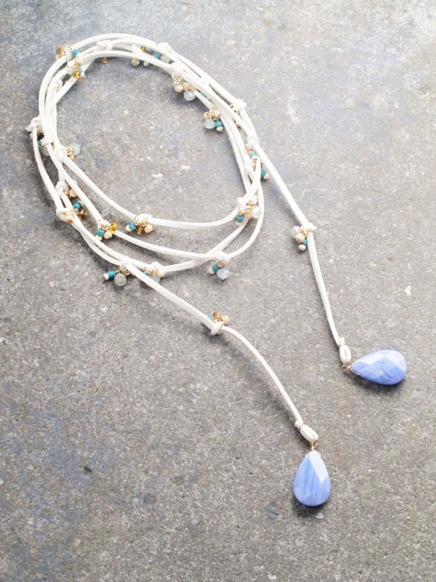 Long Suede wrap necklace *BACK IN STOCK
