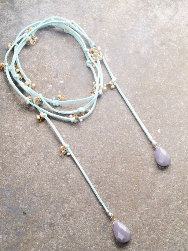 lariat and products wrap stone necklace choker xyz strand