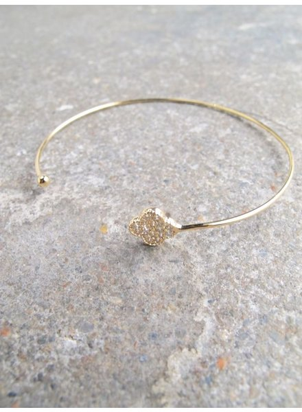 Gold Dainty gold clover bangle