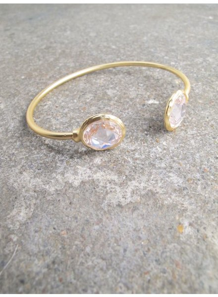 Gold Gold rhinestone bangle