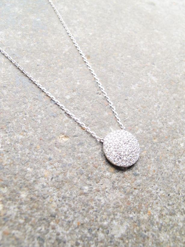 Sterling Sterling rhinestone pendant necklace