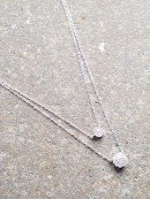 Sterling Two layer sterling necklace