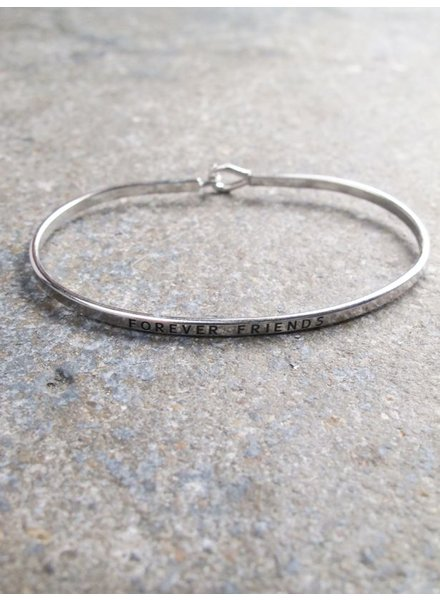 Silver Forever friends bangle