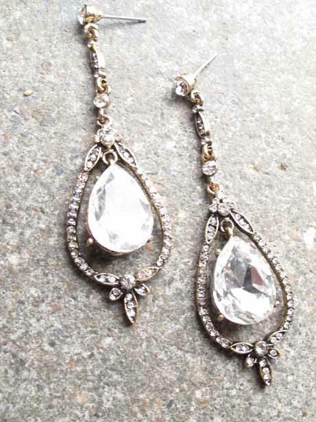 Dressy Antique chandelier earrings - Dressy Antique Chandelier Earrings - Bobbles And Lace