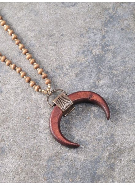 Trend Wooden horn necklace