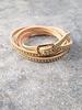 Leather Microstud wrap bracelet