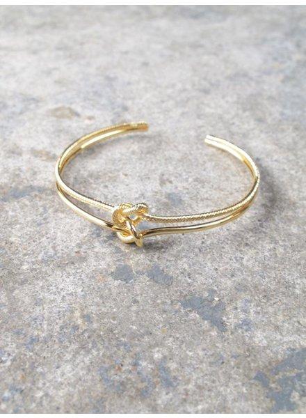 Gold Gold double knot bracelet
