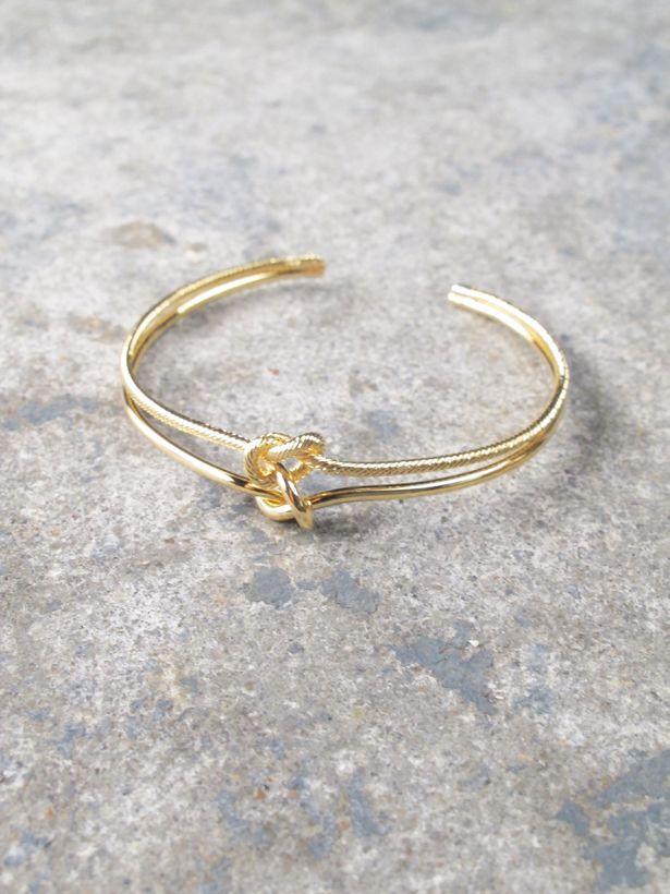 Gold Double Knot Bracelet