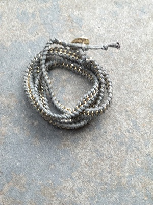 Leather Roped chain wrap
